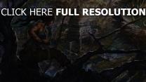 upscale tomb raider art lara croft