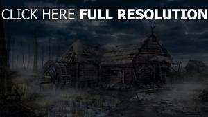 village wild hunt house the witcher 3 hexer