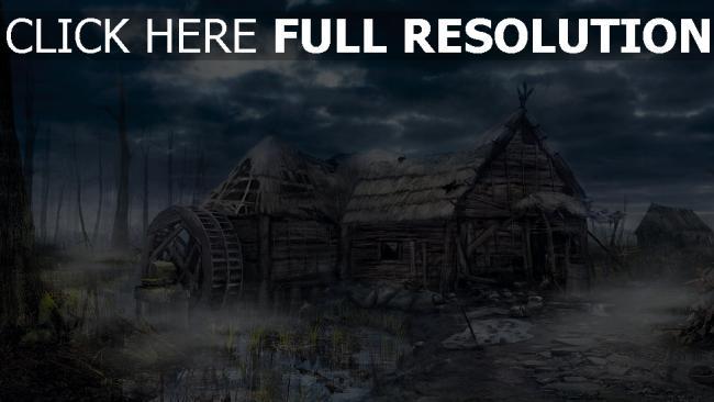 hd hintergrundbilder village wild hunt house the witcher 3 hexer