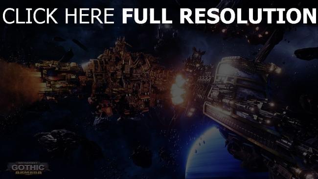hd hintergrundbilder schwarze legion armada battlefleet gothic warhammer 40k