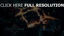 logo crackdown 3 reagent games haus soldaten stadt feuer