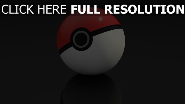 hd hintergrundbilder 3d pokeball spiel pokemon go