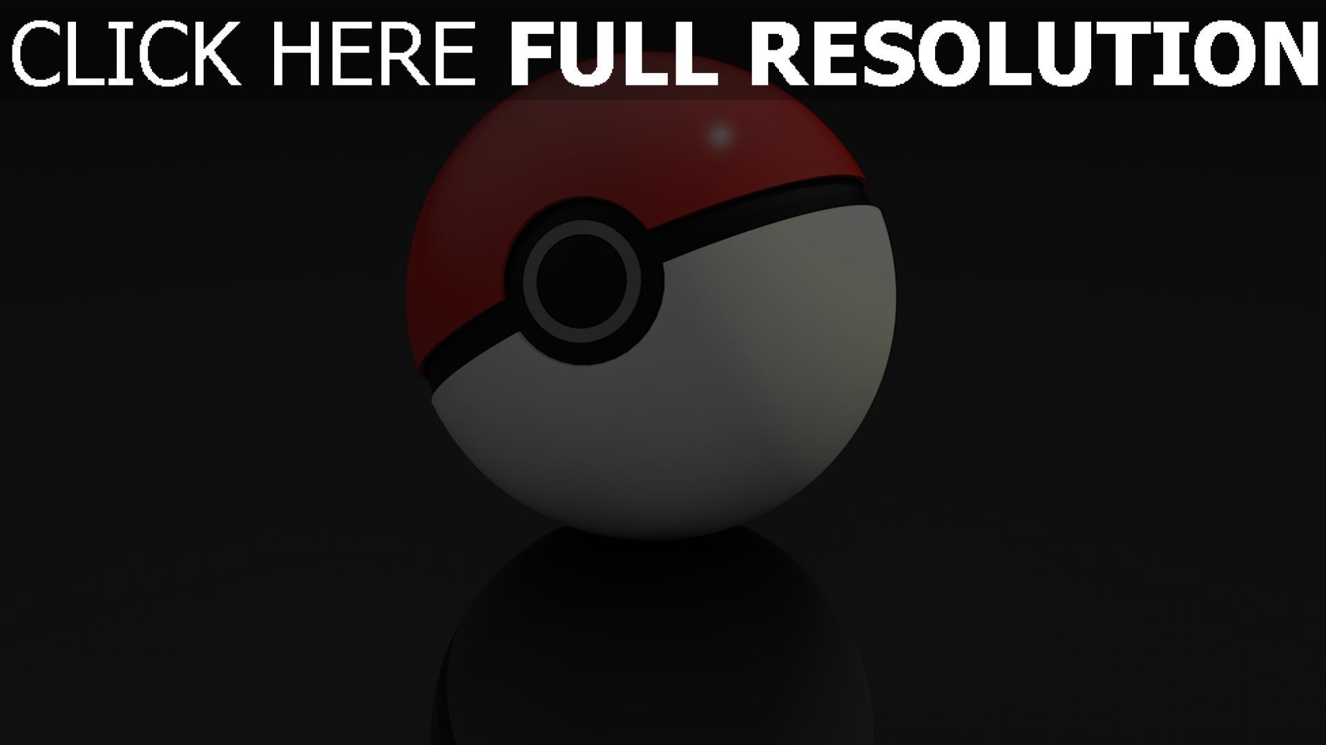 hd hintergrundbilder 3d pokeball spiel pokemon go 1920x1080