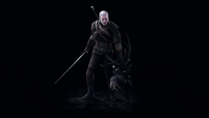 geralt kopf the witcher 3 wild hunt malerei kampf