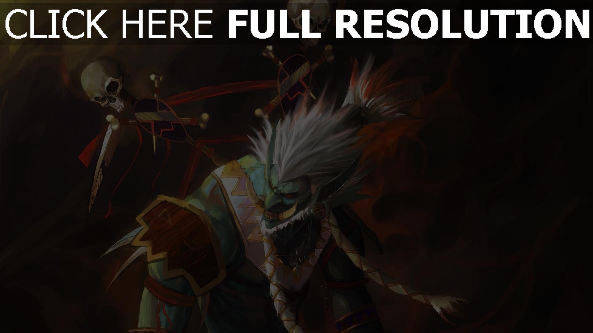 hd hintergrundbilder world of warcraft, troll, shaman, totem 1920x1080