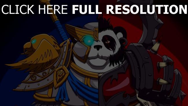 hd hintergrundbilder allianz und horde panda world of warcraft wow