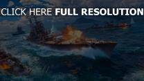 schiff world of warships explosion wargaming net