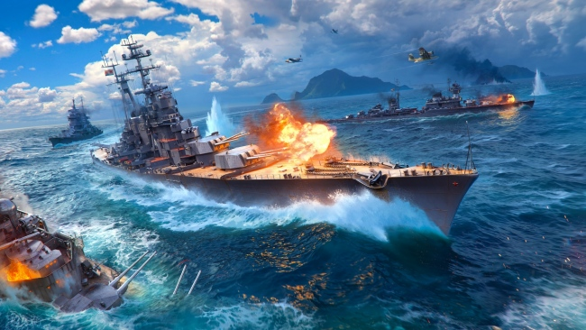 hd hintergrundbilder schiff world of warships explosion wargaming net