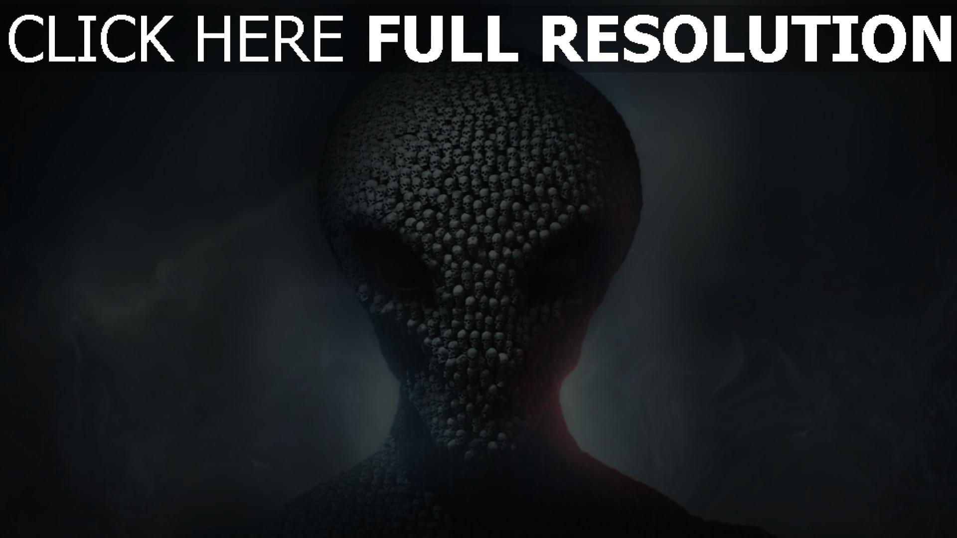 hd hintergrundbilder schädel xcom 2 alien firaxis games 1920x1080