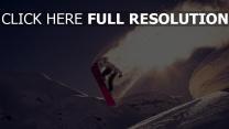 snowboarden schnee springen trick berg