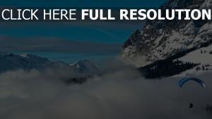 paragliding mountain wolkenhöhe flug