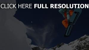 snowboard board springen fliegen schnee