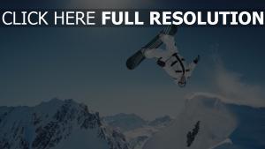 snowboarden trick springen drehen schnee