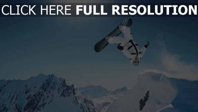 hd hintergrundbilder snowboarden trick springen drehen schnee