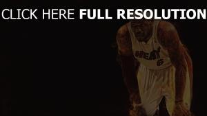 lebron james spieler basketball feuer ansicht