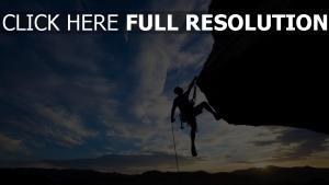 klettern felsenbergsteiger berg extrem höhe