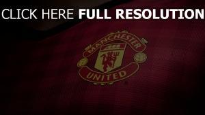 manchester united logo t-shirt stoff