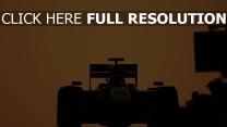 rennen auto silhouette formel 1