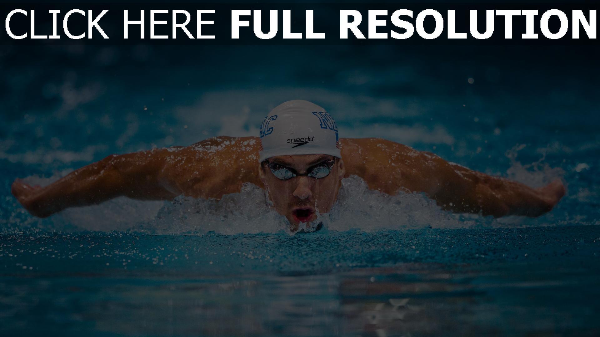 Herunterladen hd hintergrundbilder michael phelps schwimmer schwimmen ...