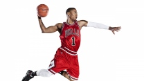 derrick rose chicago stiere nba basketball