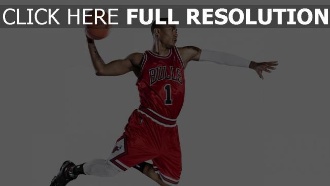 hd hintergrundbilder derrick rose chicago stiere nba basketball
