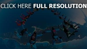 fallschirmspringen springen team synchronizität höhe