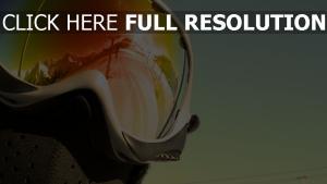 ski-maske gläser reflexion sonne