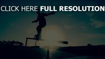skateboard silhouette rohr trick