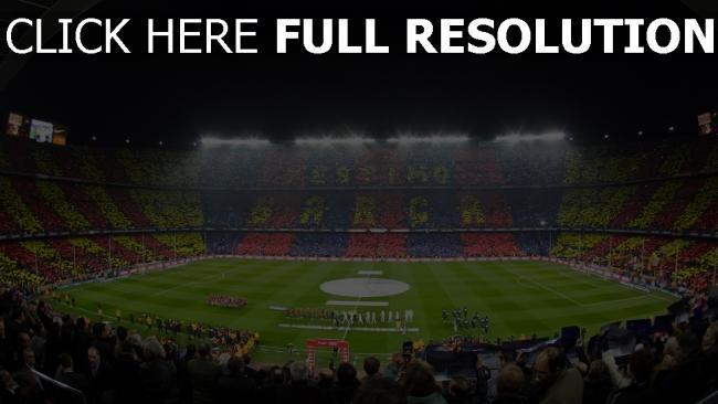 hd hintergrundbilder stadion spiel barcelona zuschauer