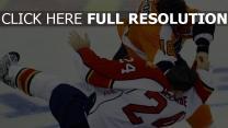 hockey kampf spieler eis
