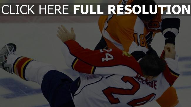 hd hintergrundbilder hockey kampf spieler eis