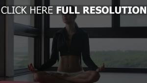 frau entspannung yoga Übung