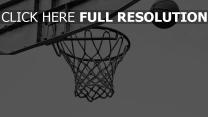 basketball schwarz-weiß netz ring