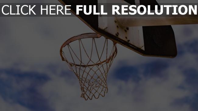 hd hintergrundbilder ring netz basketball himmel