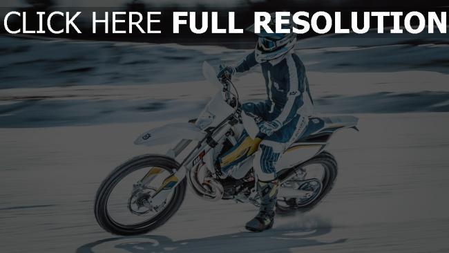 hd hintergrundbilder schnee geschwindigkeit motorcyclist