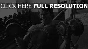 bodybuilding sport arnold schwarzenegger hanteln