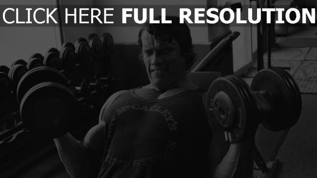 hd hintergrundbilder bodybuilding sport arnold schwarzenegger hanteln