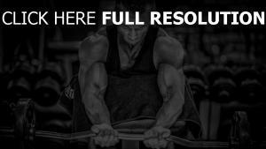 bodybuilding muskeln bodybuilder schwarz-weiß