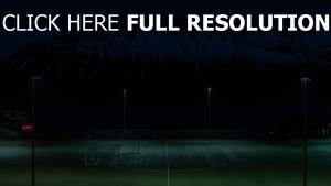 fußballfeld nacht rasen