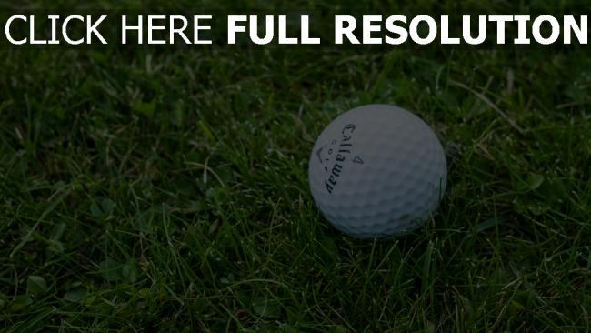 hd hintergrundbilder gras golf ball callaway