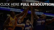 phoenix suns basketball los angeles lakers