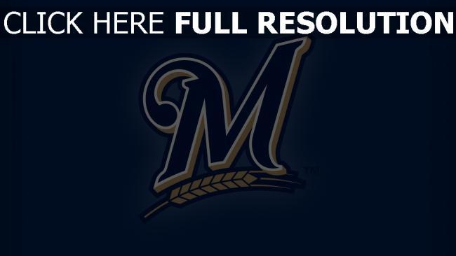 hd hintergrundbilder team logo milwaukee brewers baseball