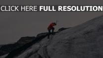 hang bergsteiger berg