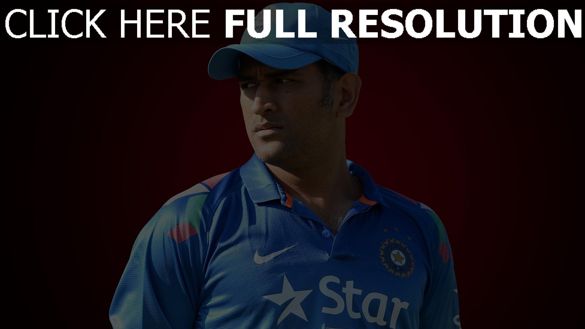 hd hintergrundbilder cricket sportler mahendra singh dhoni 1920x1080