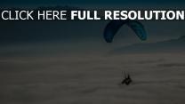 paragliding wolken himmel
