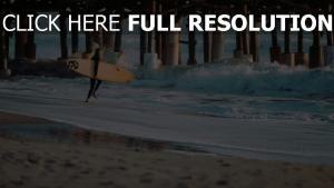 surfer surfen wellen meer