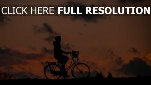 fitness radfahrer himmel silhouette