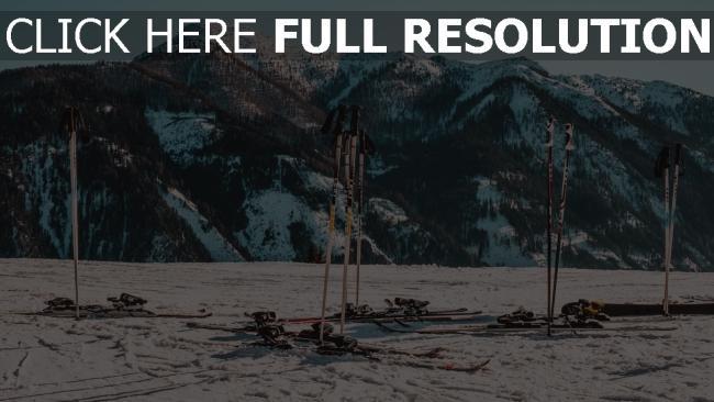 hd hintergrundbilder schnee berg winter skifahren