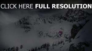 skifahren schnee sprung skifahrer berge