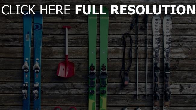 hd hintergrundbilder ski schuhe ausrüstung